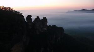 Dawn in the Blue Mountains, Australia
