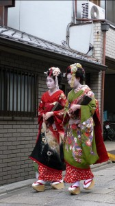 Geishas in Gion, Kyoto, Japan
