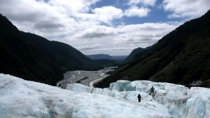 From the top, Franz Joseph Glacier in New Zealand