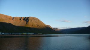 Sunset in Isafjordur