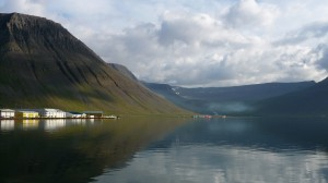 Sea reflection in Isafjordur