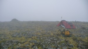 Foggy camping in Hornstrandir