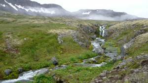 Waterfall in Hloduvik, Hornstrandir