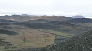 Landscape in Myvatn