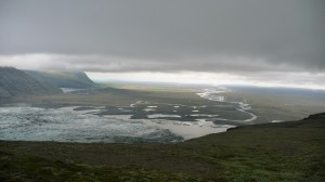 Iceberg choked lagoon in Skaftafell