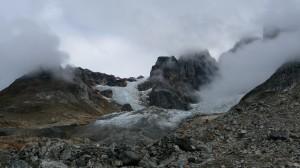 Cloudy glacier