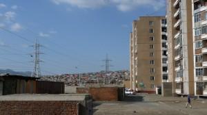 Shantytown in Ulaanbaatar, Mongolia