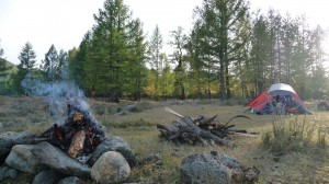 Camping and fire camp in the forest