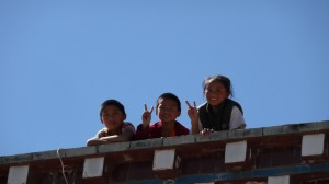 Tibetan kids in Ganzi