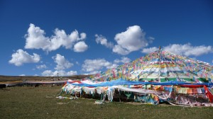 Prayer flags in Ganzi