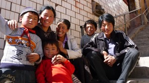 Tibetan family in Ganzi