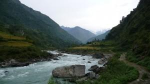 Marsyangdi River, near Nadi Bazar, Annapurna, Nepal