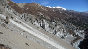 Mountains around Tilicho Base camp 3, Annapurna, Nepal