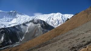 Rocky way to Tilicho Lake, Annapurna, Nepal