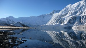 Tilicho Lake, reflection, Annapurna, Nepal
