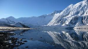 Tilicho Lake, reflection, Annapurna, Nepal