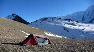 Camping in Tilicho Lake, Annapurna, Nepal