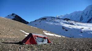 Camping in Tilicho Lake, Annapurna, Nepal
