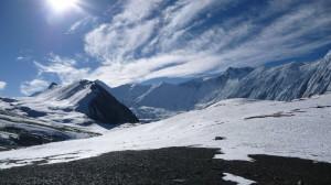 Snowy mountains around Tilicho Lake, Annapurna, Nepal