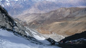 MesoKanto La Pass from the top, Annapurna, Nepal