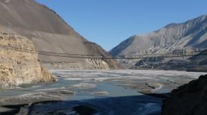 Bridge in Kali Gandaki Valley, Annapurna, Nepal