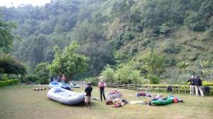 Rafts in Borderlands resort
