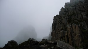 Mount Ossa in the fog, Overland Track, Tasmania
