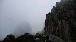 Mount Ossa in the fog, Overland Track, Tasmania