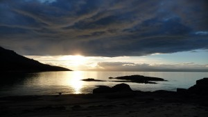 Sunset on the beach, 1, Freycinet National Park, Tasmania