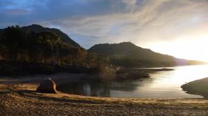 Sunset at Honeymoon Bay, Freycinet National Park, Tasmania