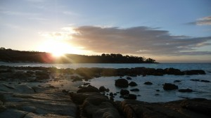 Sunset at Cooks Beach, Freycinet National Park, Tasmania