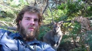 CaYuS and Wilson the Wallaby, Freycinet National Park, Tasmania