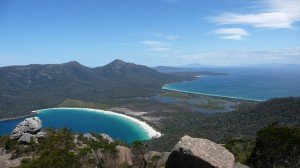 Wineglass Bay from Mount Amos, Freycinet National Park, Tasmania
