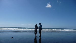 Clement & Meme, beach in New Plymouth, New Zealand