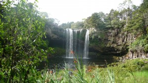 Rainbow waterfall, Kerikeri, New Zealand