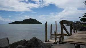Namua Island, view from Upolu, Samoa