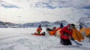 Setting up camp, Greenland