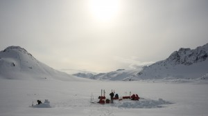 Leaving camp, Greenland