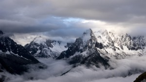 Mountain and clouds, French Alps