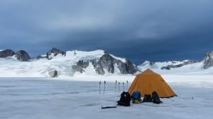 Bivy spot, advanced camp, glacier, Greenland