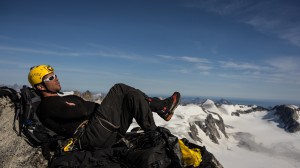 Charles resting in the mountains, Greenland